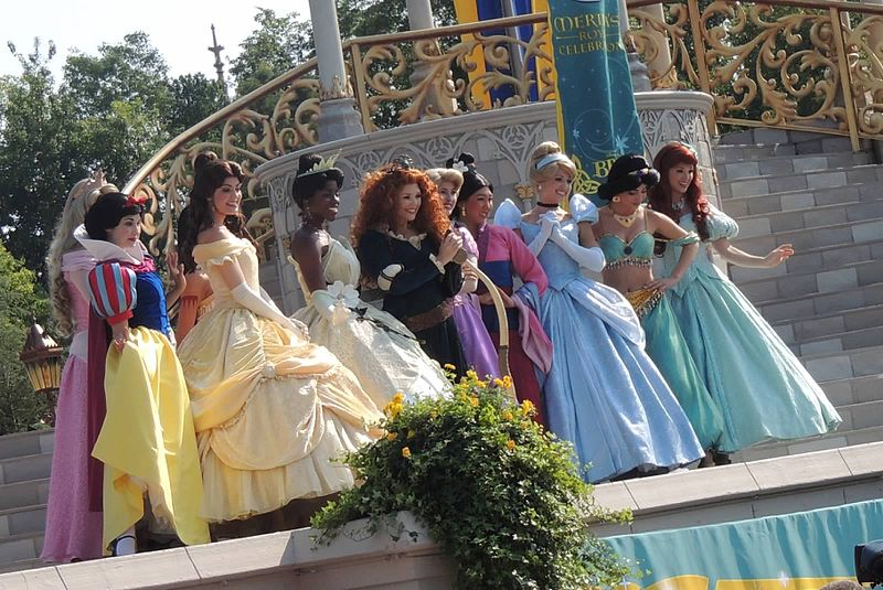 Disney Princesses at the coronation of Merida - photo by Candace Lindemann/Flickr