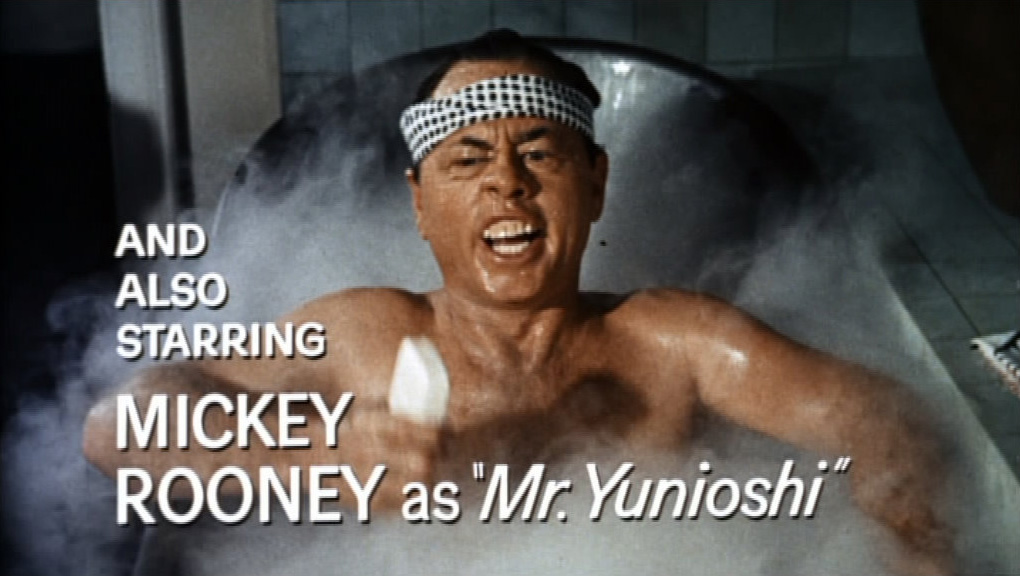 Mickey Rooney as Mr. Yunioshi in Breakfast at Tiffany's