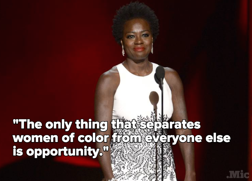 Viola Davis at the Emmy's. Image source: Mic/AP